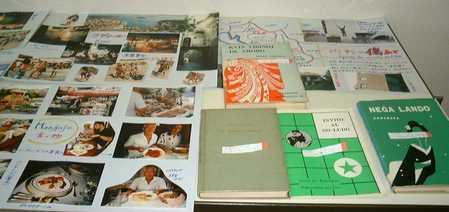 エスペラントの書籍と交流資料