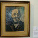 "瑛九 「ザメンホフ像」 1934年 油彩 宮崎県立美術館蔵  Q Ei, ""Portreto de zamenhof"", 1934, olepentrajxo, Miyazaki Gubernia Artmuzeo"